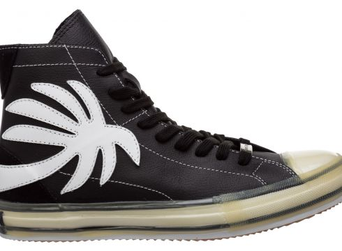 Men's shoes high top leather trainers sneakers vulcanized(119232019)
