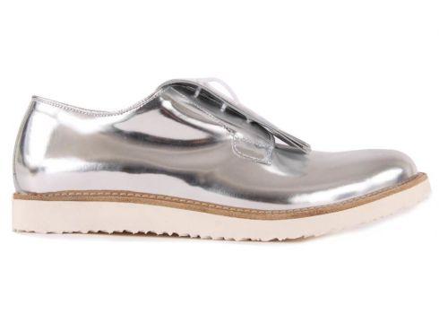 Derby-Schuhe aus Leder mit Franzen(112328104)