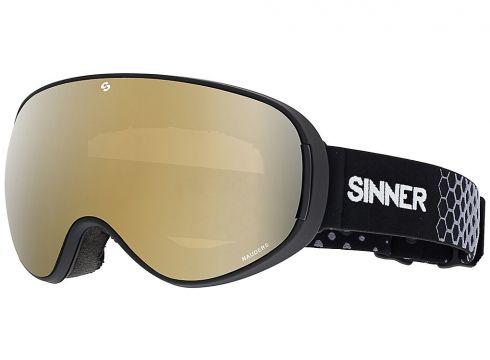 Sinner Nauders Matte Black ( Bonus Lens) zwart(97420804)