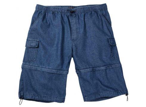 Brigg - Jeans-Bermuda mit abnehmbarem Bein und Gummizug - jeansblau - 8XL(92061923)
