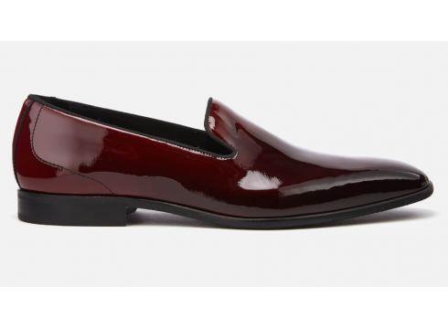 Kurt Geiger London Men\'s Westferry Leather Loafers - Black/Red - UK 7 - Black/Red(59181361)