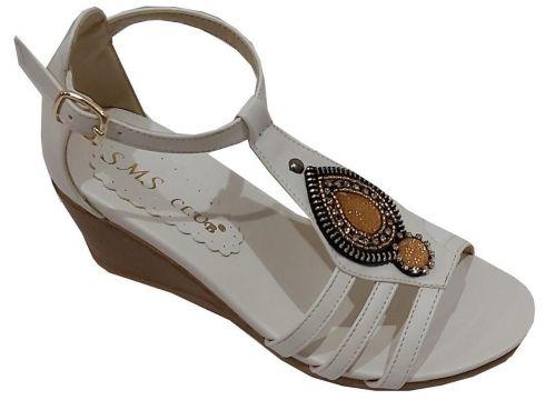 SMS Kadın Platin Trend Fashion Taşlı Sandalet 1034(119319043)