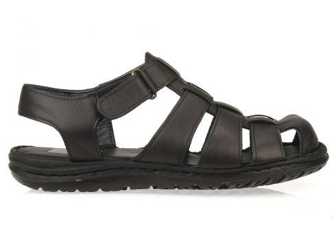 Ziya Erkek Siyah Hakiki Deri Sandalet(117473660)