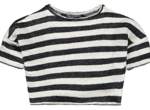 Gestreiftes T-Shirt aus Leinen Lino(113867289)