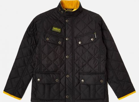Barbour Boys\' International Quilted Ariel Jacket - Black - 2-3 years/XXS - Schwarz(50509274)