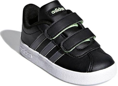 adidas F36402 Siyah Koyu Gri Açık Yeşil Unisex Çocuk Tenis Ayakkabısı - FLO Ayakkabı(69095469)