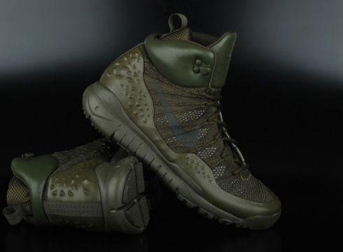 Nike Lupinek Flyknit Cargo Khaki Sequoia High Top Sneaker...(77151493)