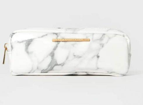 Stradivarius Trousse imprimé marbre FEMME Noir 103(112237056)