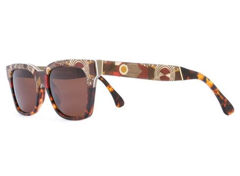 Retrosuperfuture lunettes de soleil à monture carrée - Multicolore(65494534)