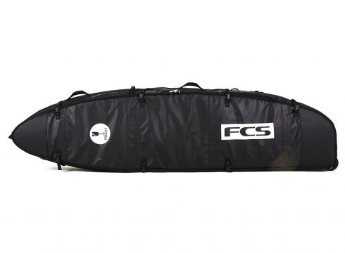 FCS Travel 3 Wheelie Funboard Surfboard Bag - Black/grey(110360644)