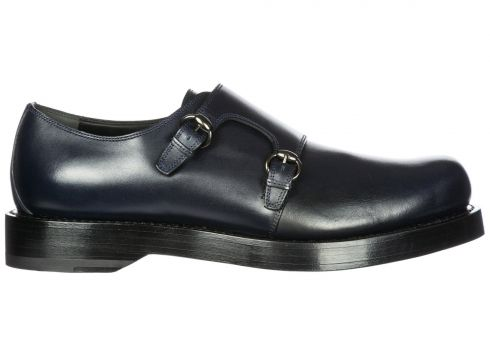 Men's classic leather formal shoes slip on monkstrap(118071774)
