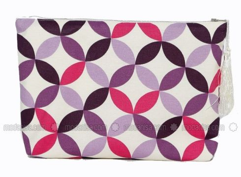 Patterned Bag - Purple - Hanimsah Aksesuar(100916088)