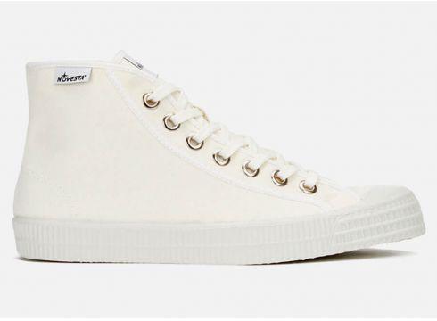 Novesta Star Dribble Hi-Top Trainers - White - UK 7 - Weiß(50589209)
