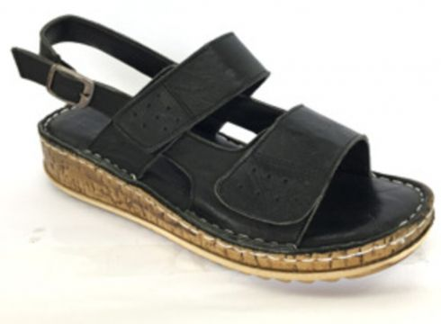 Costa Kadın Hakiki Deri Siyah Diyabetik Comfort Ortopedik Sandalet(118055076)