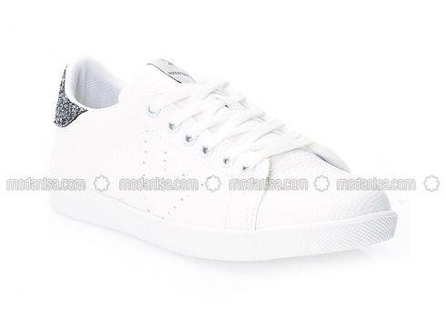 White - Silver tone - Sport - Sportswear - STRASWANS(100928513)