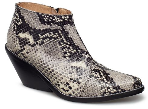 Ava Snake Shoes Boots Ankle Boots Ankle Boots With Heel Schwarz HENRY KOLE(114159060)