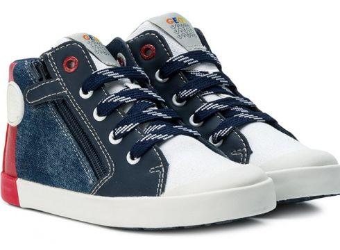 Geox baskets montantes à logo - Bleu(65470605)