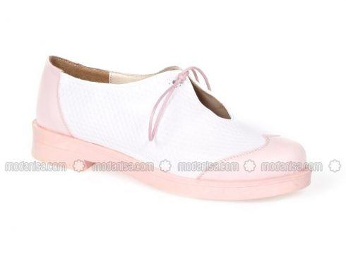 White - Powder - Casual - Shoes - Pembe Potin(100930329)
