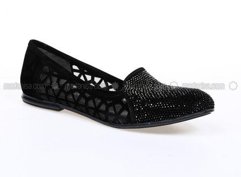 Black - Flat - Flat Shoes - Bambi(100919887)