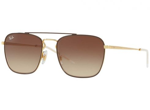 Ray-Ban RB3588 Gold Top On Brown geel(100864616)
