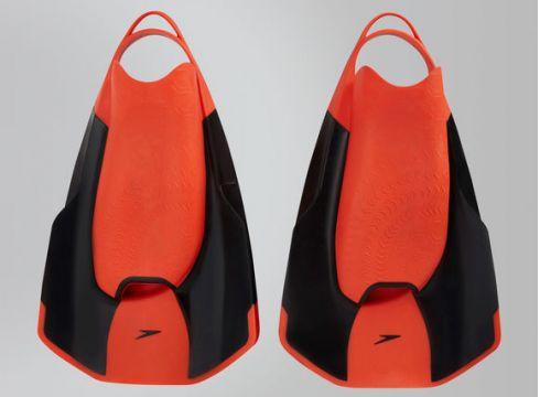 Speedo Fastskin Kickflossen, Schwarz/Rot - Size: 3-4(86095946)