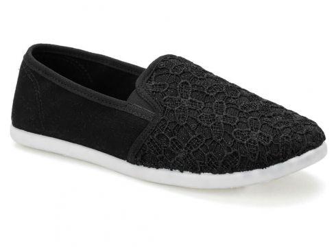 Art Bella Cs19001 Siyah Kadın Slip On Ayakkabı - FLO Ayakkabı(80589672)