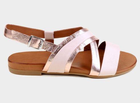 ALTEA Pudra Hakiki Deri Kadın Comfort Sandalet(118221782)